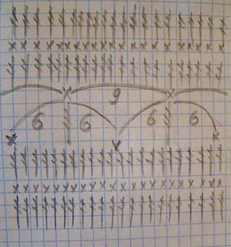 Схема узора для туники