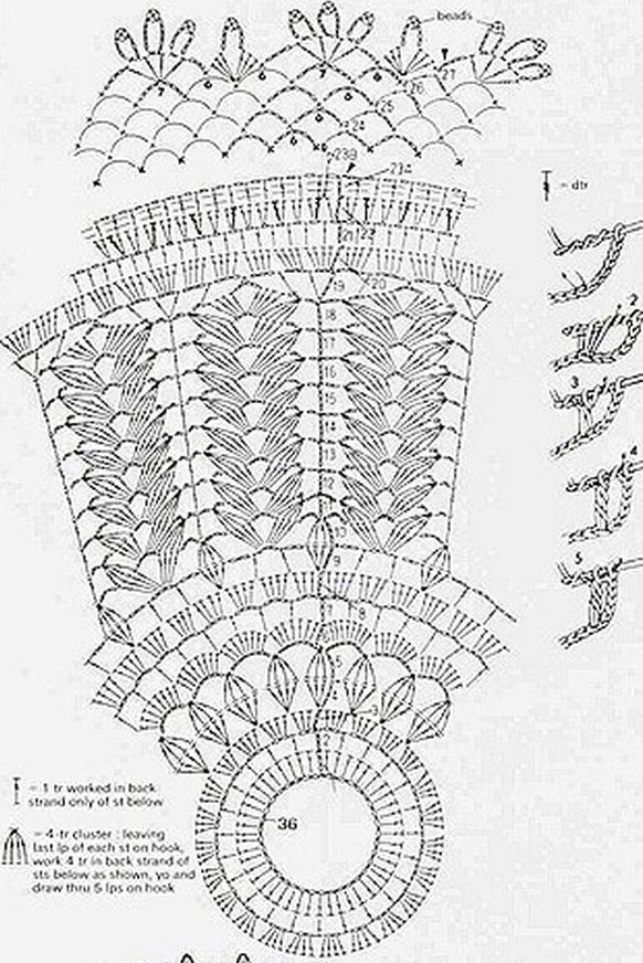 Вязаный абажур