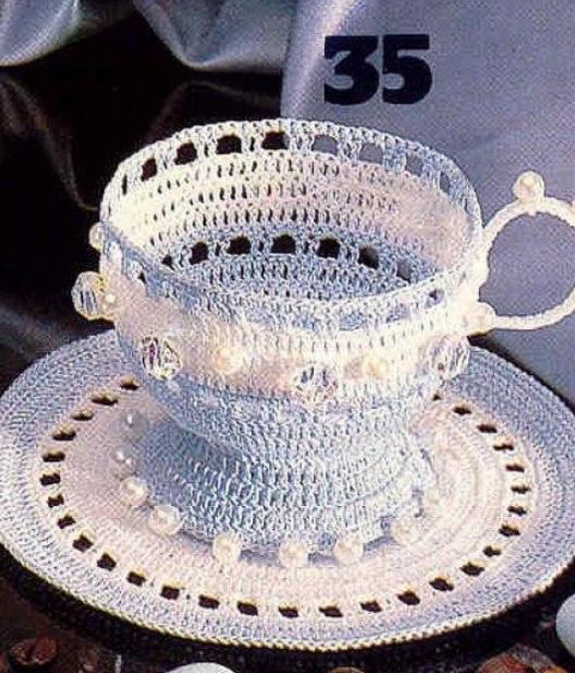 Чашка крючком