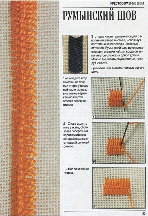 Вышивка на вязаных изделиях