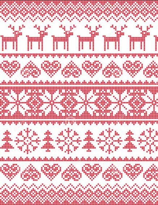 Схемы вязания зимнего жаккарда спицами
