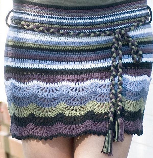 Короткая юбка крючком