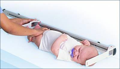 Определяем рост новорожденного до года