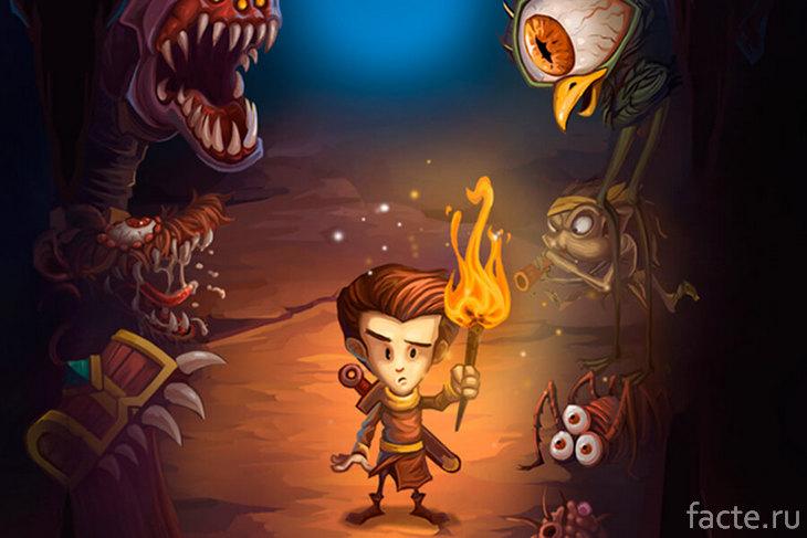 Подземелья, монстры и «стул» чертенка в Greedy Cave